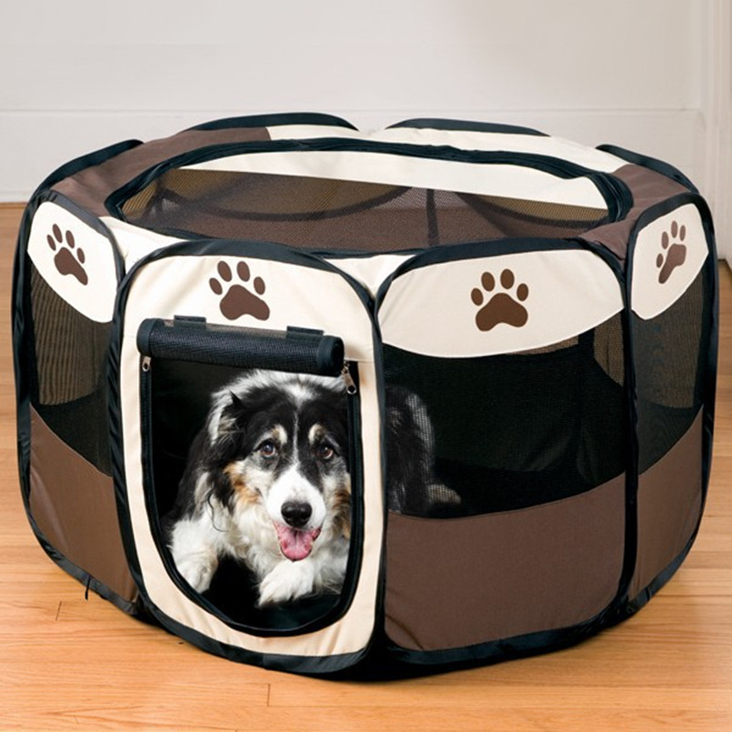 NEW HOT SALG Pet Comfort Carrier Produkter Baby Puppy Dog Bed House Playpen hegn til hunde katte Træning Kennel Pet telt