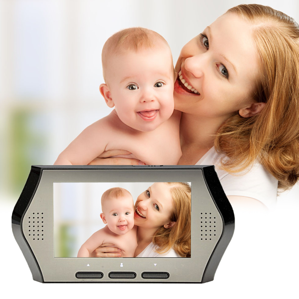4.3 inch LCD Wireless HD Digital Door Viewer Camera Door Eye Video Record Peephole Viewers Eye EU Infrared IR Night Vision #LO