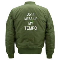 Cute Kpop EXO Don't Mess Up My Tempo Bomber Jacket for Women and Men Kawaii EXO Fans Quilted Bomber Jackets Plus Size S 5XL