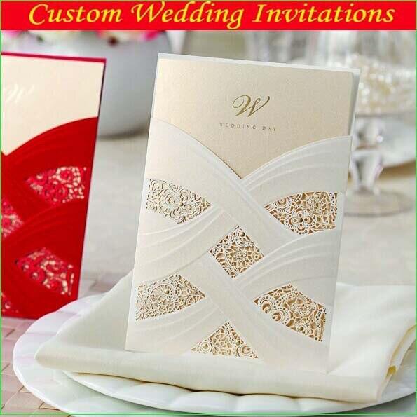 Elegant Wedding Invitations 2014 Design White Laser Cut Card Invitation As Favor