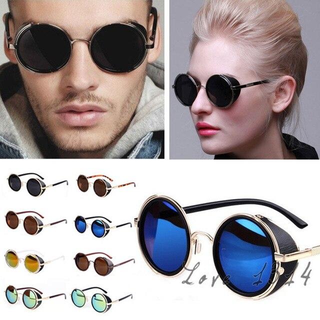 585190ca805 Hot Fashion 2018 Summer Steampunk Retro Coating Mens Vintage Round  Sunglasses Men Women Brand Design Sun Glasses Framed SV004906