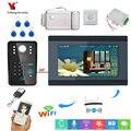 RFID Wachtwoord 7 Inch LCD Wifi Draadloze Video Deurtelefoon Deurbel Camera Intercom APP Afstandsbediening Ondersteuning 8 mobiele telefoon