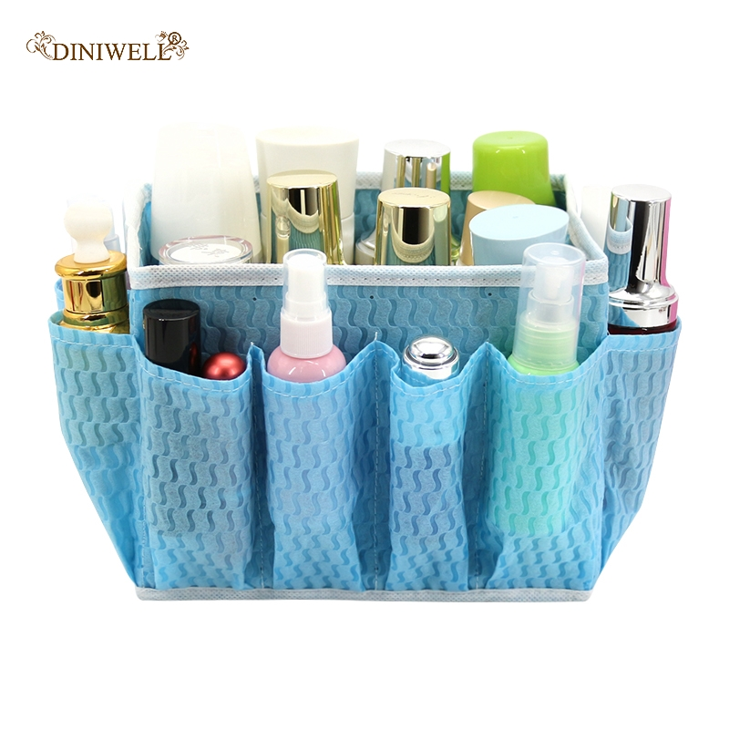 Multi-pocket Makeup Organizer Non-wovens Cosmetic Storage Boxes Desktop Groceries Storage Containers Women Toiletries Box
