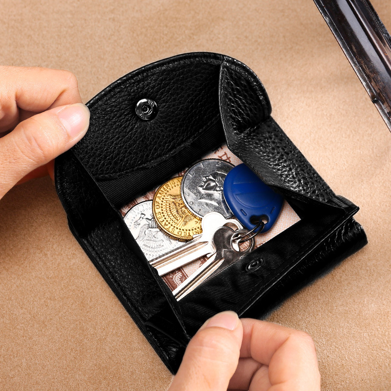 Genuine Leather Women Wallet Fashion Coin Purse for Girls Female Small Japanese Style Lady Money Bag Classical Solid Mini Clutch