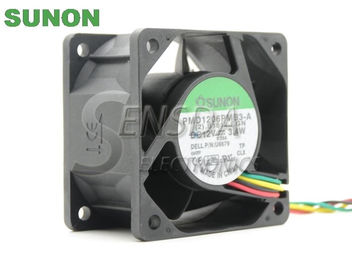 SUNON PMD1206PMB3-A P/N : 0U8679 U8679 DC 12V 3.4W 60x60x38mm 4Wire 5Pin for SX280 GX620 SX745 SX755 760 USFF cooling fan 1206 4 3k 432 5