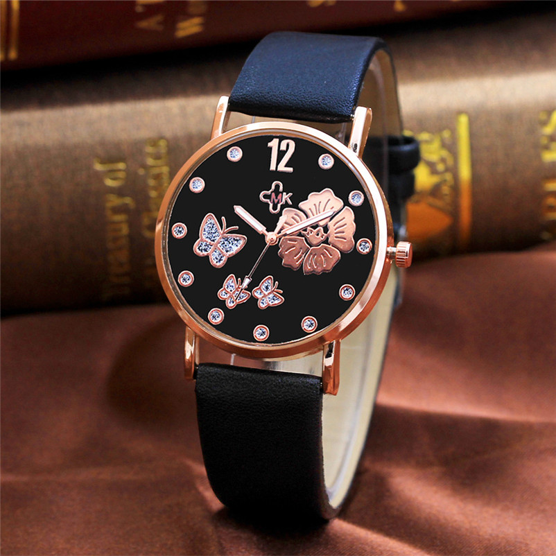 Fashion Casual Watch Women Color Strap Digital Dial Leather Band Quartz Analog Dress Wrist Watches Gifts Relogio Feminino fashion watches relogio feminino hot montre women s casual quartz leather band new strap watch analog wrist watch wristwatch
