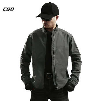 CQB Outdoor Sport Camping Tactical Military Jacket Men\'s Thin Wear-resistant Breathable Water Repellent Hunting Cloth for Hiking - DISCOUNT ITEM  50% OFF Sports & Entertainment