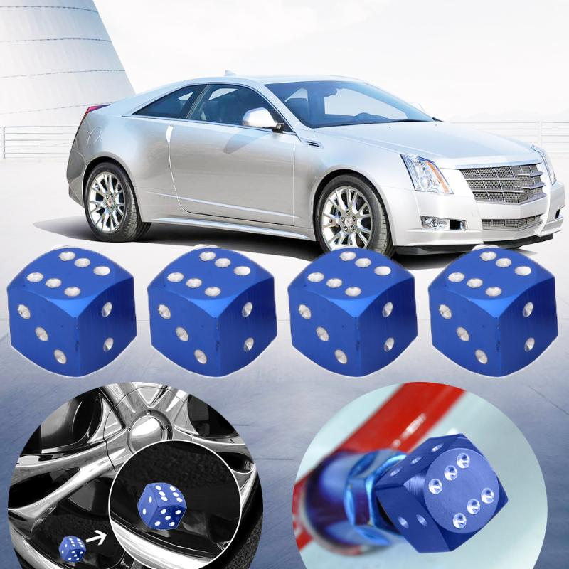4pcs/set Car-styling Valve Caps Dice Style Car Tire Wheel Tyre Caps Valve Stem Dust Covers for Universal car