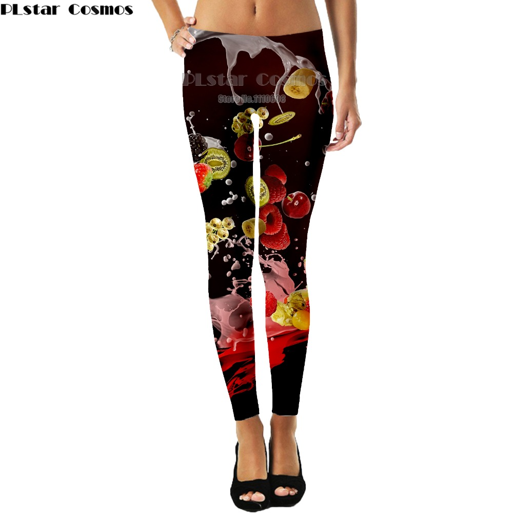 Clever Yx Girl High Elasticity Fruit Printed Fashion Slim Fit Legging Workout Trousers Casual Pants Leggings For Women Be Friendly In Use