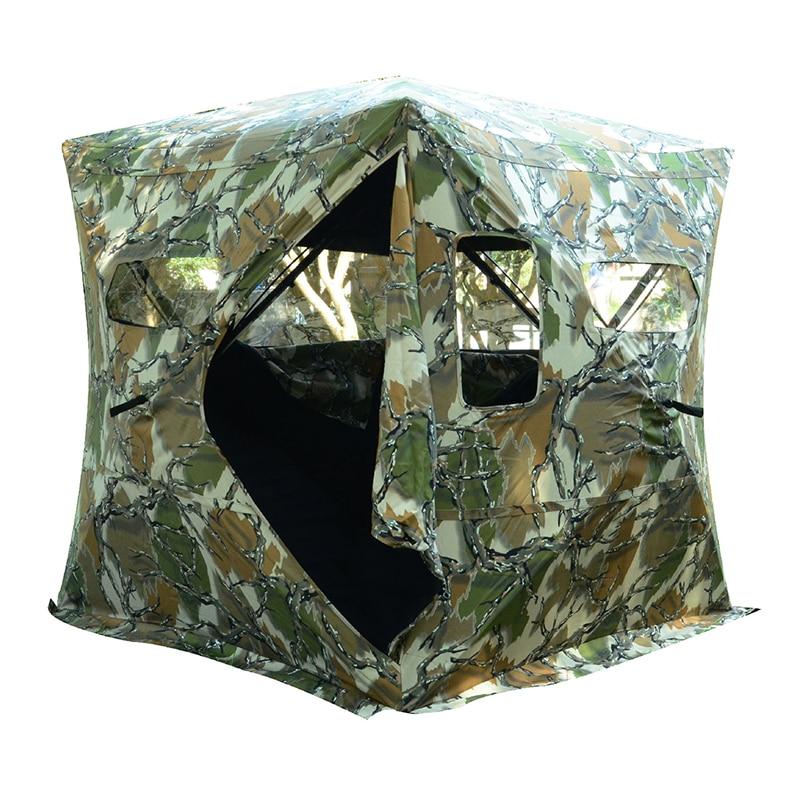 Waterproof Hunting Pop-up Tent  Window Ground Blind Camo Green Shower Dressing