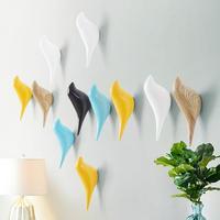 Creative Bird Shape Wall Hooks Home Decoration Resin Wood Grain Storage Rack Bedroom Door After Coat