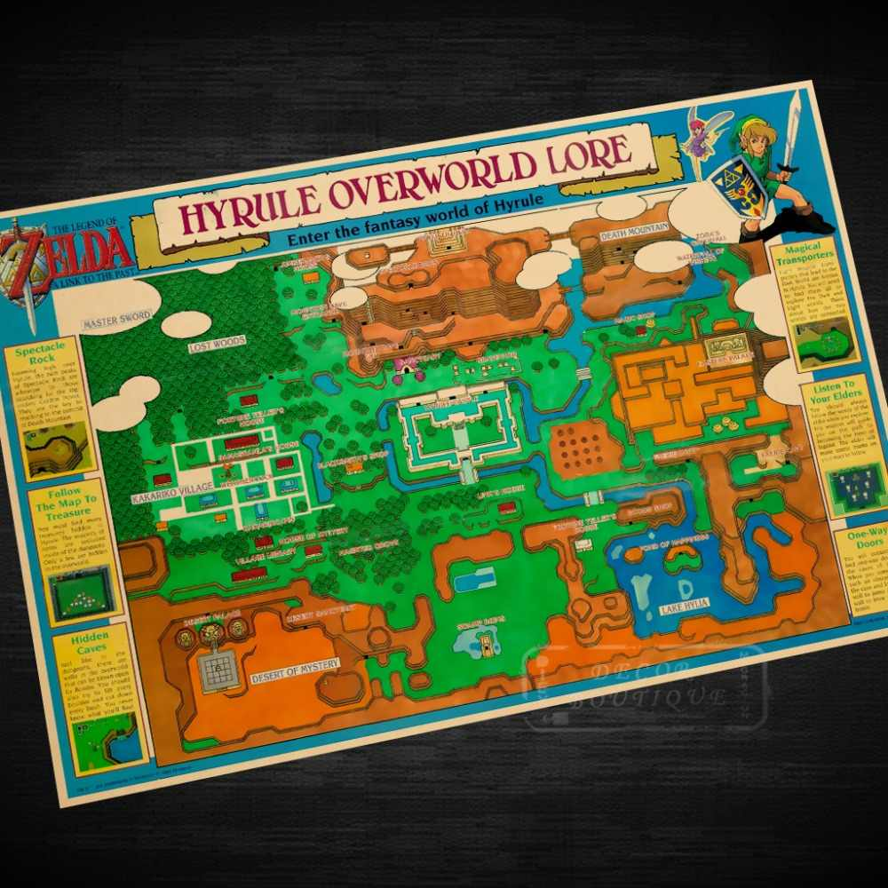Hyrule Overworld Lore The Legend Of Zelda Video Game Poster