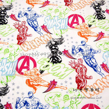 140*50cm 1pc New 100%Cotton Fabric,Tissus Telas Patchwork Fabric Marvel Comics.The Avengers For Diy Sew Baby Clothes,Felt,Tissu