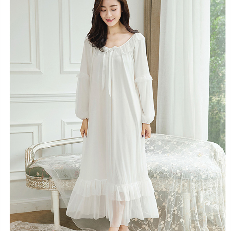Women Long Loose Mori Girl Sleepwear Long Sleeve Casual Night Dresses Princess Bath Robe Chemise Home Wear Maternity Nightgown