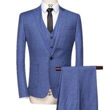 YFFUSHI 2017 New Arrival Men Suit Three Pieces Latest Coat Pant Designs Masculino Homme Mariage Groom Best Men Blazer 6XL