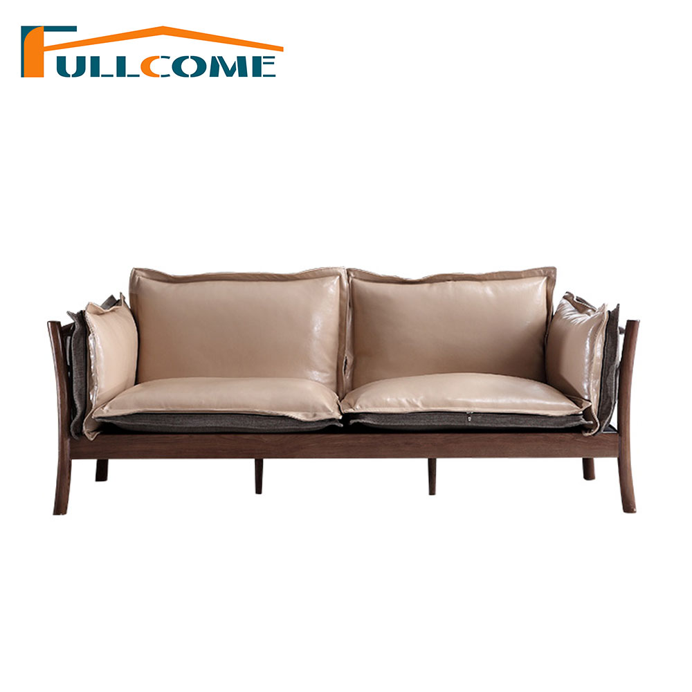 China Home Furniture Modern Leather Scandinavian Sofa Love Seat ...