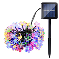 7M 50 LED LederTEK Solar Power Fairy String Lights Peach Blossom Decorative Garden Lawn Patio Christmas Trees Wedding Party