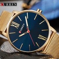 Relogio Masculino Curren Watch Men Brand Luxury Steel Waterproof Quartz Mens Watches Casual Sport Male Clock