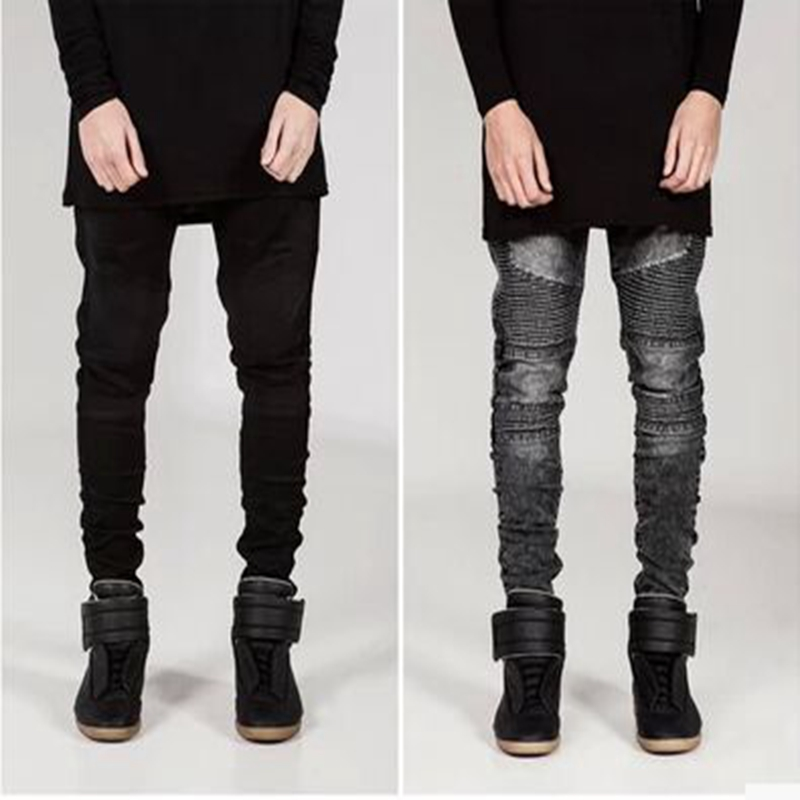 2018 Masculina Casual Denim Distressed Men's Slim Jeans Pants Hip-hop Men Jean Brand Biker Jeans Skinny Rock Ripped Jeans Homme
