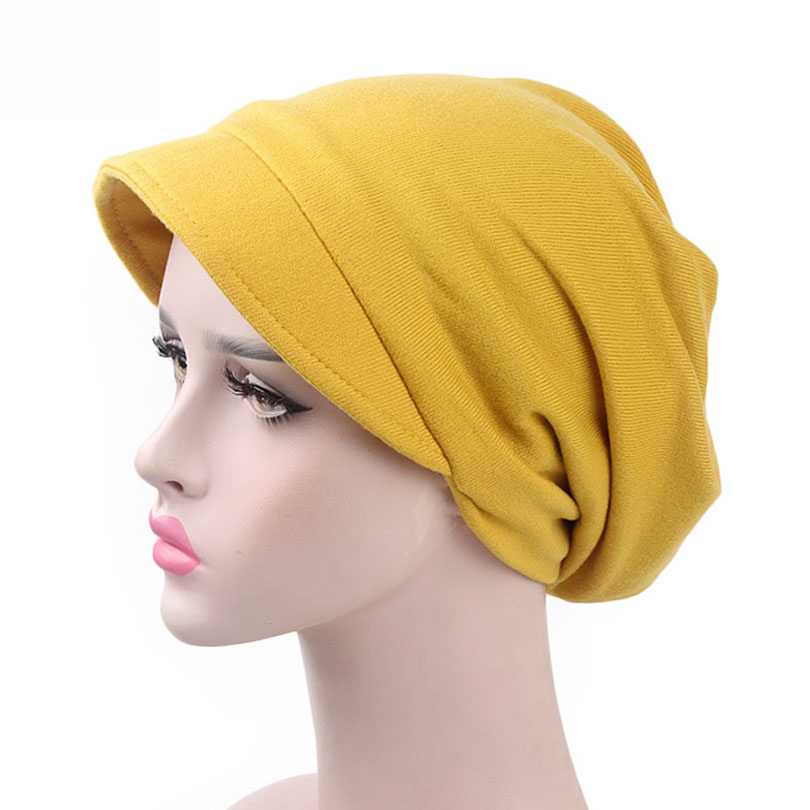 Haimeikang Bandanas Women Indian Muslim Stretch Turban   Headwear   Bonnet Lady Chemo Hair Warp Beanie Headcover Hijib Headband