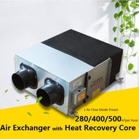 220V Air Exchanger with Heat Recovery Core, for 150mm/6 duct, 27kg machine, Household Ventilation KIT