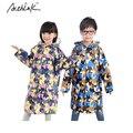2016 ActhInK New Kids Rainsuit Impermeable para Las Niñas Niños de La Escuela con la Cartera de Bolsillo de Camuflaje Niños Camo Ropa Impermeable, C289