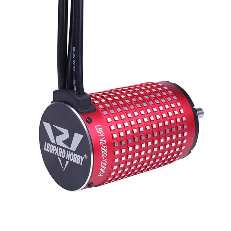 Leopardo Hobby LBP5892 V2 sin escobillas inrunner 5892 1340KV 1200KV 980KV 780KV sensor 4 polo motor para RC coche barco-in Partes y accesorios from Juguetes y pasatiempos    2
