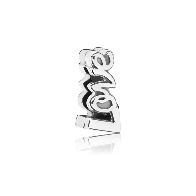 925 Sterling Silver Beads Reflexion Love Script Clip Beads for Jewelry Making fit Original Pandora Bracelets Women DIY Jewelry in Beads from Jewelry Accessories
