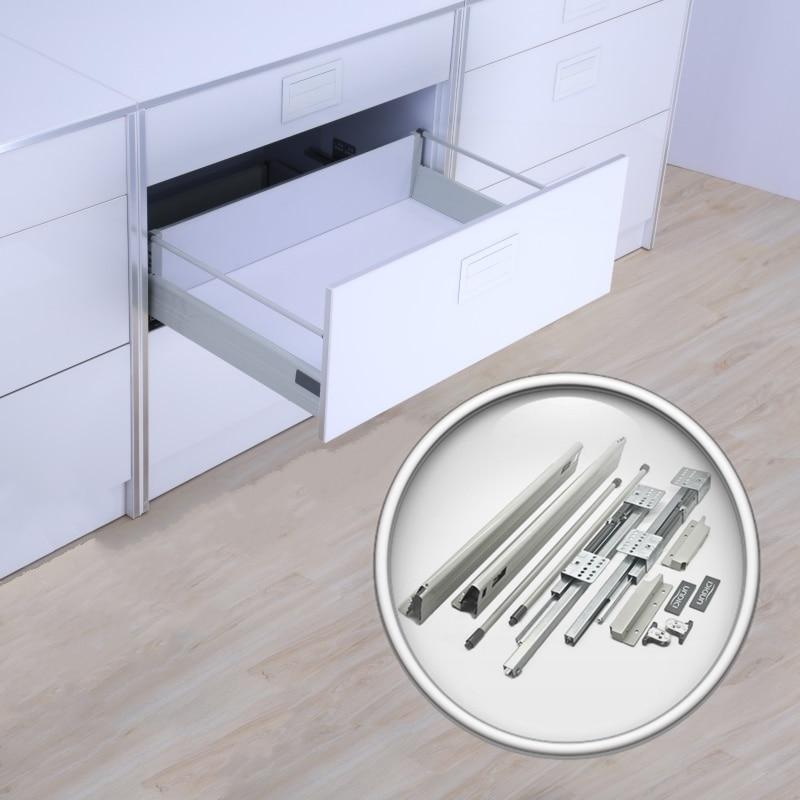 Soft Closing Drawer Slides Depth 20 INCH Double Wall Sliding Tandem Box