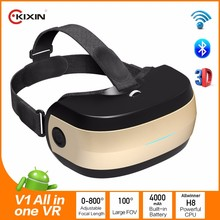 V1 Android 4.4 All-in-One 3D VR Virtual Reality Glasses Allwinner 2G 16G , 1080p full HD screen all in one vr