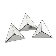 100pcs 15mm Silver Triangle studs Punk Rock Style Triangle Rivets Spike