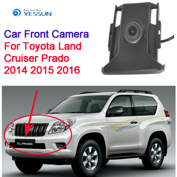 YESSUN Waterproof CCD Cars front Logo Parking Camera for Toyota Land Cruiser Prado 2014 2015 2016 high quality фото