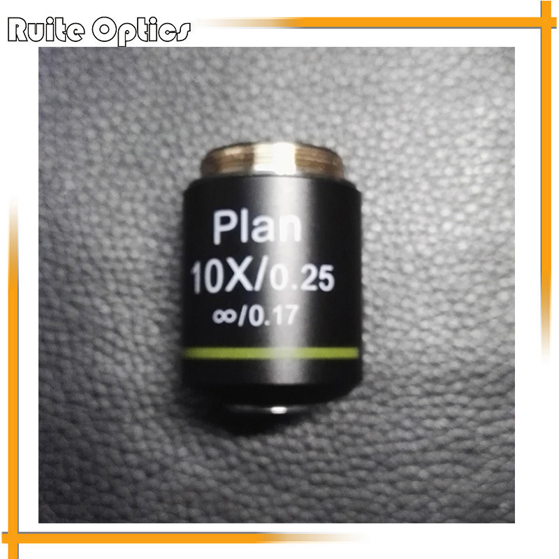 180mm Metal Full Plan Infinity Microscope Objective Lens 10x N.A.0.25 For Biological Microscope brand new microscope achromatic objective lens 4x 10x 40x 100x set free shipping