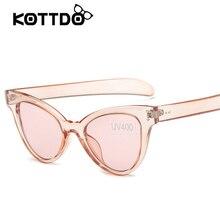 Fashion Cat Eye Sunglasses Women Brand Vintage Sun glasses Female Shades Transparent Frame Summer Style Eyewear oculos Goggle