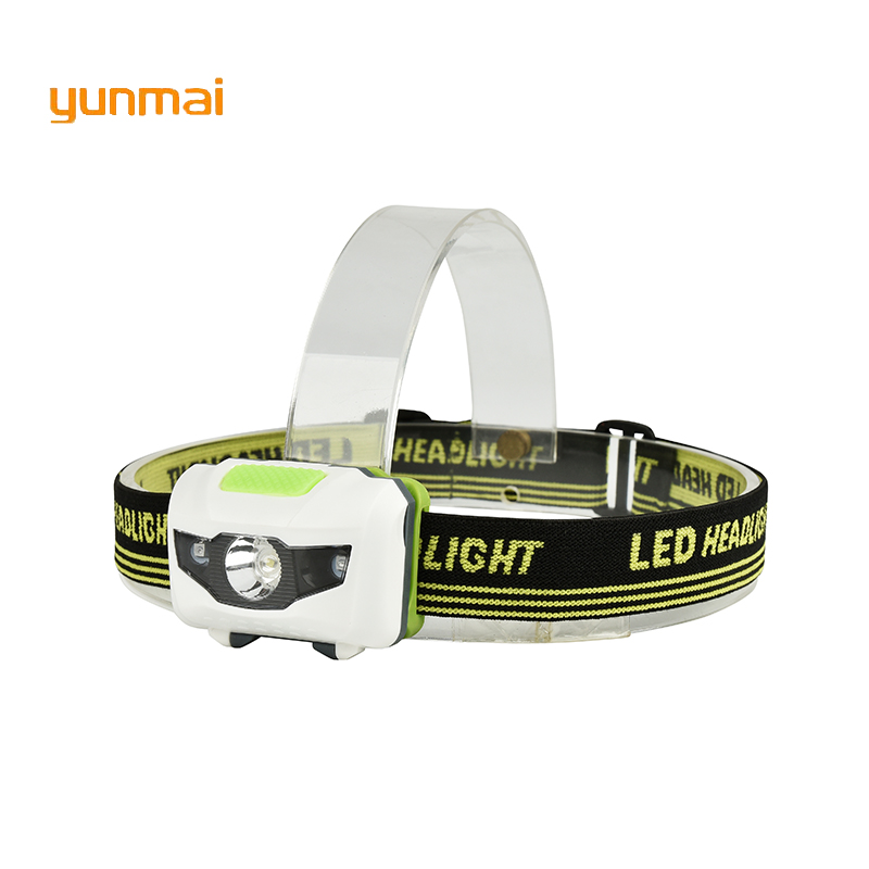 Powerful Mini LED Headlamp 4 Mode Headlamp Waterproof LED Headlight Flashlight White + Red Light Head Lamp Torch Light