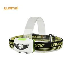 Powerful Mini LED Headlamp 4 Mode Headlamp Waterproof LED Headlight Flashlight white + red light Head lamp Torch light