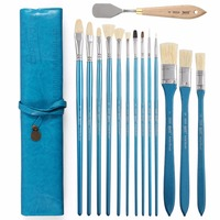 13Pcs Different Shape Hair Oil Painting Brush With Knife Set For Acrylic Watercolor Drawing Brush Set
