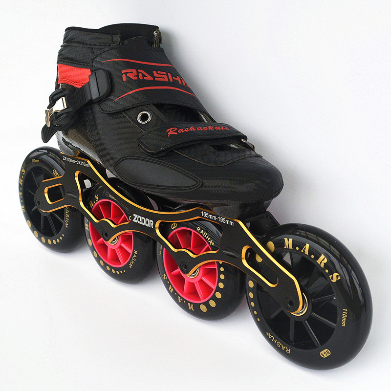 RASHA SKATE 2*100mm 2*110mm inline skate chassis inline speed skating shoes speed skates handmade patines en linea banana frame [7000 aluminium alloy] original vortex inline speed skate frame base for 4x110mm 4x100mm 4x90mm skating shoe bcnt sts cityrun