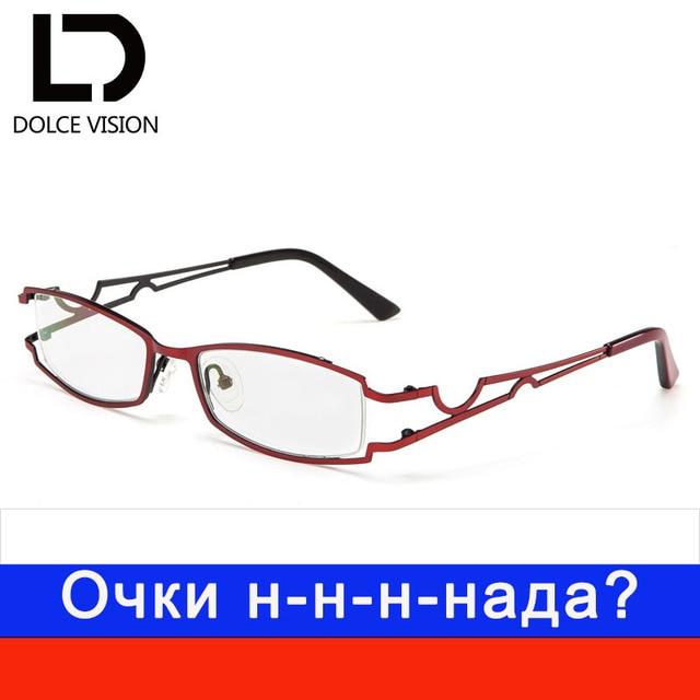 8872258a120 DOLCE VISION Titanium Half Frame Myopia Glasses Women Fashion Trending  Prescription Lens Elegant Computer Eyeglasses 2018 New