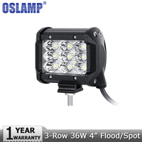 2PCS 30W 4 Inch OSRAM Spot LED Work Light Dual Row Offroad Driving Working Light Fog