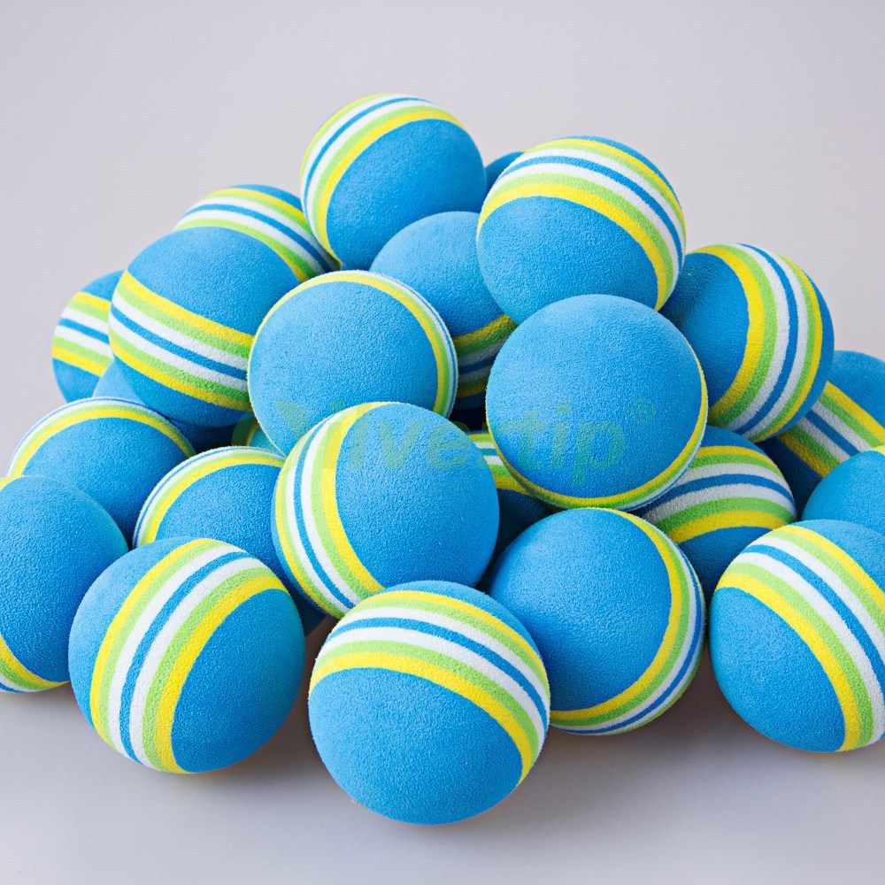 30 шт синий Радужный EVA пенопластовые мячи для гольфа BRB губка для внутреннего использования на открытом воздухе тренировочная помощь качели задний двор Новый