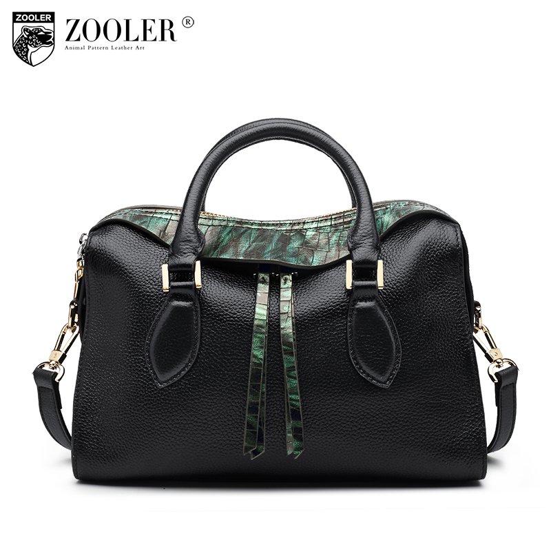 ZOOLER Luxury Genuine Leather Tote Bags Handbags Women Famous Brands Fashion Lady Real Leather Messenger Shoulder Bag Sac A Main zooler fashion genuine leather crossbody bags handbags women famous brands female messenger bags lady small tote bag sac a main