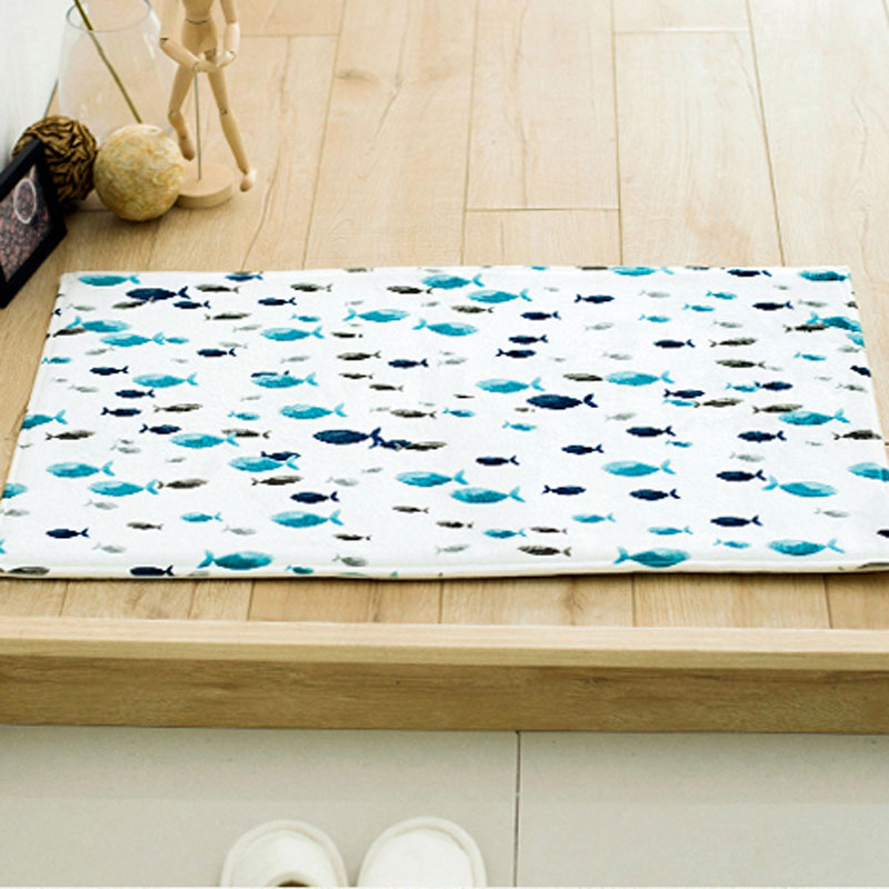 Personalized Fish/Tree/Bottles Design Front Door Mat Kitchen Anti Skid  Bibulous Carpet Soft