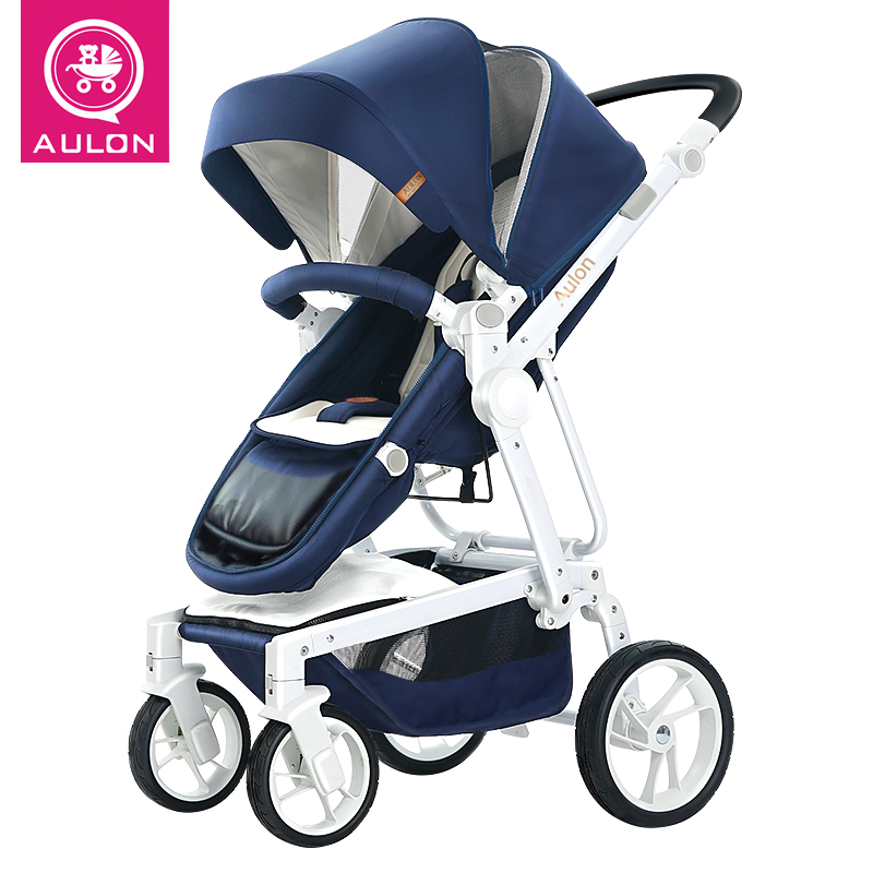 New 2018 baby carriage sit and sleep high-view light baby folding car two-way push luxury children pram new binomial and new view on light theory
