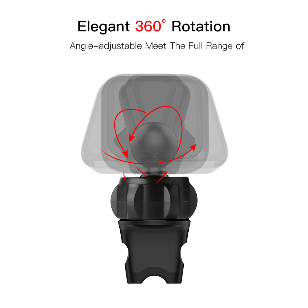 Metrans Magnetic Car Phone Holder With 360 Degree Rotation And Air Vent Holder 3