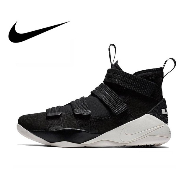 805d7063b7033 Original Authentic Nike LEBRON SOLDIER 11 Men Basketball Shoes Medium Cut  Sports outdoor Sneakers 2018 New Arrival 897647-004