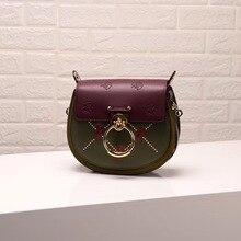 цена на Luxury Women Bag For 2019 Designer Brand Saddle Bag Leather Ladies Crossbody Bag Fashion Ring Shoulder Bag Vintage Handbag