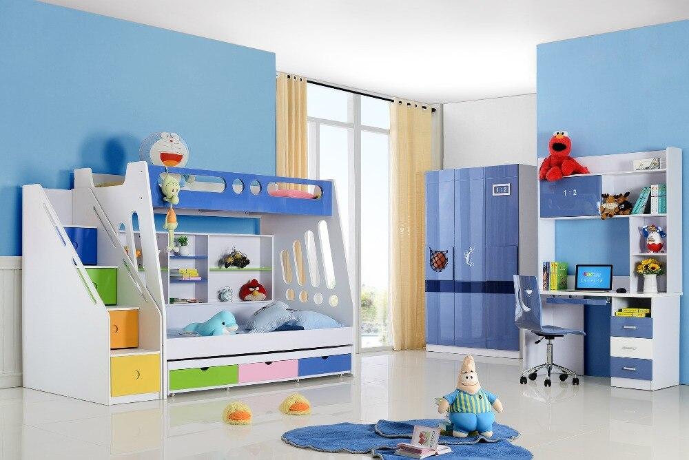 Bunk Bed Luxury Baby Beds Bunk Child Basketball Shoes Promotion Wood Kindergarten Furniture Camas Lit Enfants Meuble Childrens