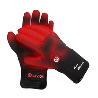 Savior Windproof Motorcycle Heated Gloves Rechargeable Lithium Battery Powered for Skiing Riding Bicycling Fishing Hunting