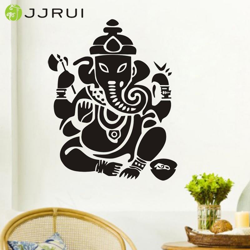 JJRUI budizam Indija Ganesha Lord zidne naljepnice joga buddh uspjeh - Kućni dekor